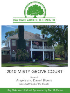 Bay Oaks Yard of the Month - MAY 2020