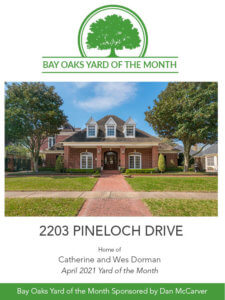 Bay Oaks Yard of the Month April 2021