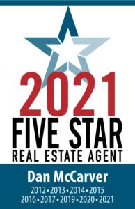 Dan McCarver 2021 Five Star Real Estate Agent - Bay Oaks Online