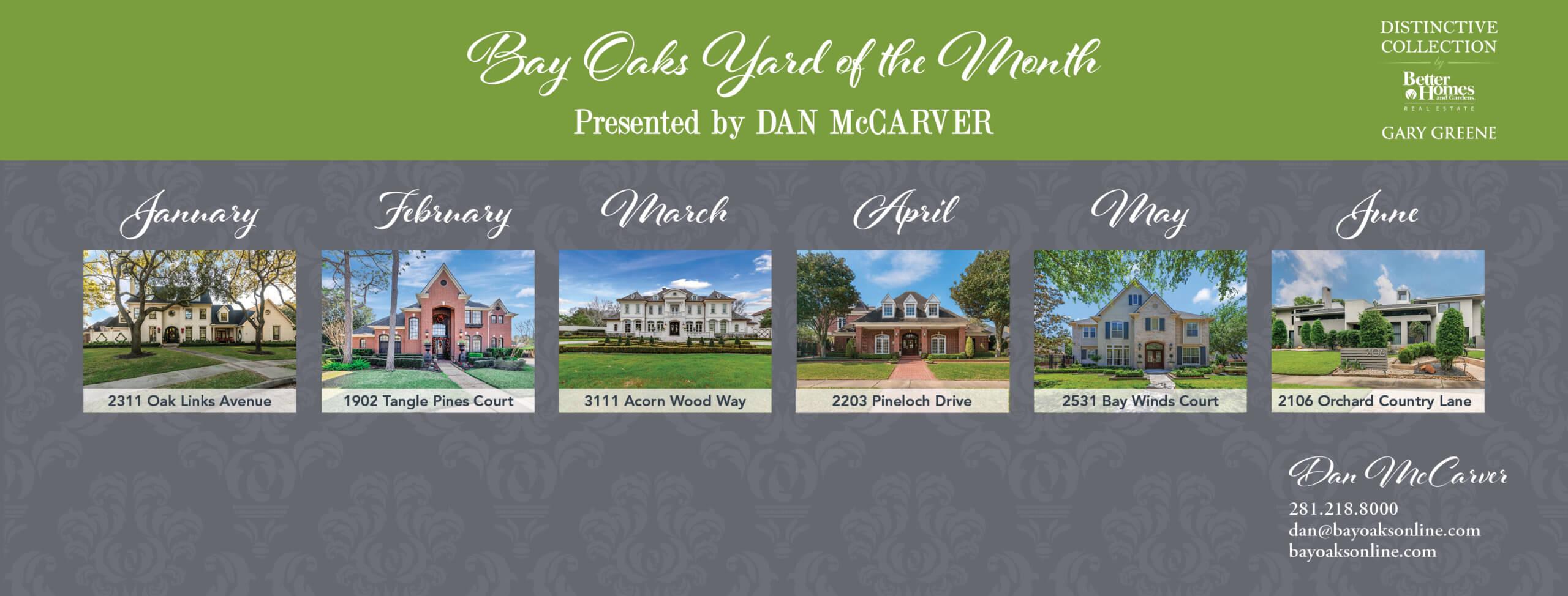Bay Oaks Yard of the Month 2021 Presented by Dan McCarver